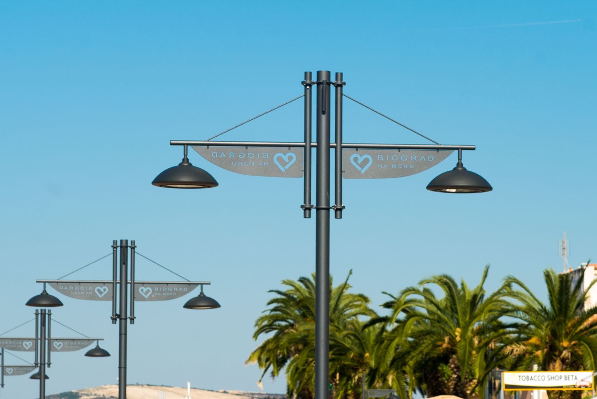 Custom-made lighting fixtures and lamp post