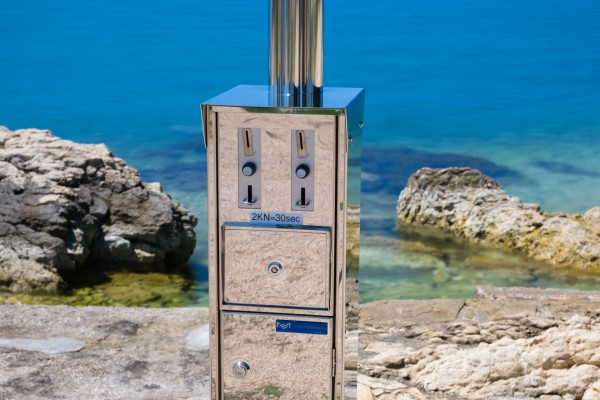 Coin/token-operated shower - INOX - Products - Marex Elektrostroj